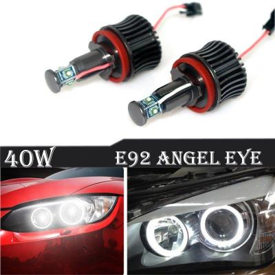Ricoy para bombillas E60 E61 E90 E92 E70 E71 E82 E89 1 3 5 Series X5 X 6 Z44 Led Luz 40W H8 Angel Eyes Halo Anillo Bombillas Sin Error