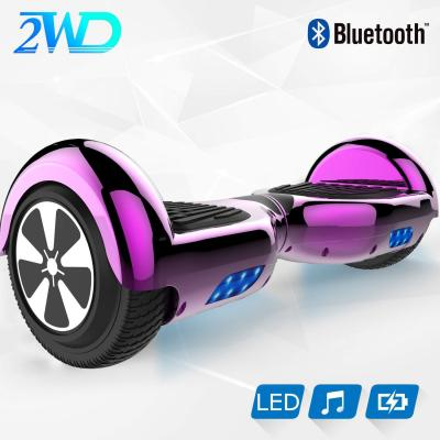 2wd 6.5 Hoverboard Scooter Eléctrico Las Ruedas Led Luces Self Balance Scooter Con Bluetooth